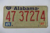 Vintage 1987 87 ALABAMA AL License Plate Automobile Tag MADISON COUNTY 47