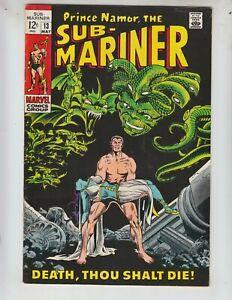 "Sub-Mariner 13 VF+ (8.5) 5/69 ""Death, Thou Shalt Die!"""