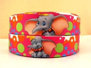"""Red Dumbo Ribbon 1"""" (25mm) Wide 1m is only £1.49 NEW UK SELLER FREE P&P"""