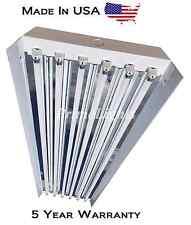(6) FIXTURES - 6 LAMP T5HO High Bay Fluorescent  Light Fixture - W/ BULBS