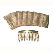 48 Clear Plastic Hair combs for veils halos crafts