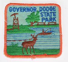 Vintage Patch Aufnäher Truckercap Amerika USA Kanada - Dodge State Park - 8x8cm