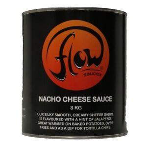 Flow Nacho Cheese Sauce Topping 3kg Nachos Sauce Jacket Potatoes Pour FREE P & P