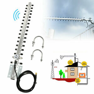 2.4GHz 25DBI Yagi Wireless RP-SMA WiFi Antenna For 1/4 inch Modem Card Router