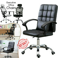 Executive Leather Office Mesh Chair Computer Desk Swivel Adjustable Height Lift