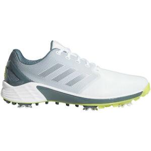 New Mens Adidas ZG 21 Golf Shoes White / Acid Yellow / Blue Oxide Size 9 M