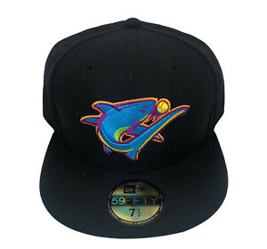 Clearwater Threshers MiLB Rare New Era 59FIFTY Fitted Cap (Black) NWT Size 7 1/2