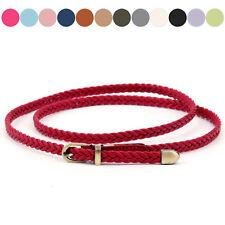 Women's Weave Belt Causal Narrow Thin Skinny Braided Waistband Plus Size Belt