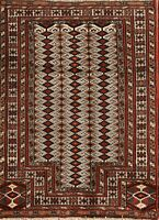 Geometric Balouch Bokhara Hand-Knotted Foyer 2'x3' Wool Oriental Area Rug Carpet