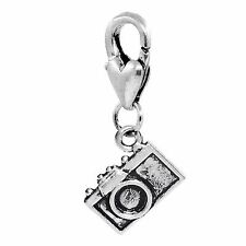Camera Photographer Photo Photography Clip Dangle Charm for Traditional Bracelet