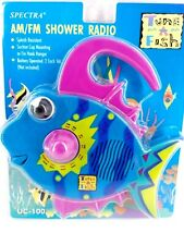 New ListingShower Radio Am Fm Music Kid Bath Decor Tune-A-Fish Blue Fish Spectra Uc-100 New