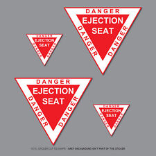 Danger Ejection Seat Model Aircraft Helicopter Car Stickers Decals - SKU2818