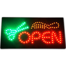 Hair Cut Beauty Salon open LED Business lighted Sign neon Animated Barber Shop