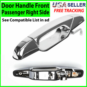 Chrome Door Handle Front Passenger Right Side RH for 2007-2013 Chevy GMC Outside