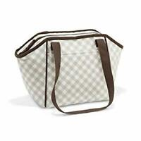 Defect Thirty one lunch break thermal tote bag picnic 31 gift Taupe Gingham Pop