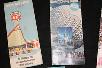 Vintage Road Map Lot Folded Walt Disney World New Mexico Worlds Fair NY Ravina