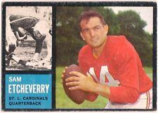 SAM ETCHEVERRY TOPPS 1962 # 139 FOOTBALL CARD CARDINALS FAIR SHAPE