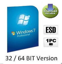 OEM Windows 7 Professional Multilanguage d'activation-Clé pour 32/64 bits