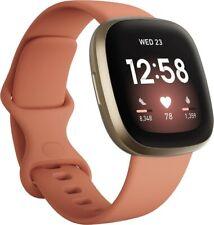 Fitbit Versa 3 Aktivitäts-Tracker - Altrosa/Aluminium Softgold