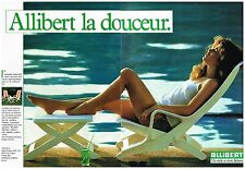 Publicité Advertising 1984 (2 pages ) Mobilier de jardin Transat Allibert