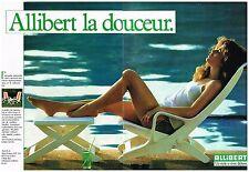 Publicité Advertising 1984 (2 pages ) Mobilier de jardin Transat Allibert
