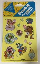 NIP 1989 3M Post-it Removable Stickers Muppet Babies Bath Time Jim Henson HQ-400