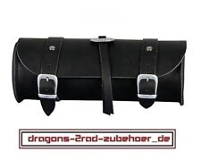 Motorrad Werkzeugrolle Gepäckrolle HIGH QUALITY Harley Chopper tool box leather