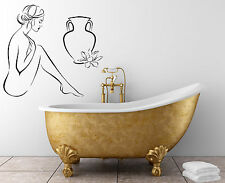 Wall Stickers Vinyl Decal Naked Girl With Pitch Modern (z2053)