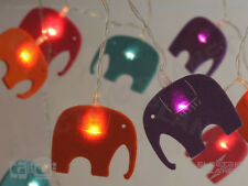 Elephant Felt LED Stringlights, Battery Powered Fairy Lights