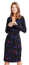 Ann Taylor Floral Button Cuff Wrap Women's Dress - Black, Size 6