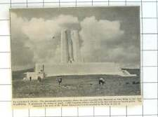 1936 Great Canadian War Memorial Vimy Ridge Clear Of Scaffolding