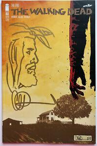 WALKING DEAD #193 w/EZEKIEL REMARQUE & SIGNED BY CHARLIE ADLARD 2ND PRINT