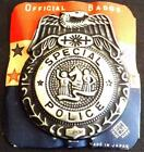 1950s Large Carded Tin Special Police Vintage TOY Badge - Post War Japan