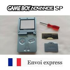 Coque GAME BOY ADVANCE SP bleu light blue NEUF NEW + tournevis - shell case GBA