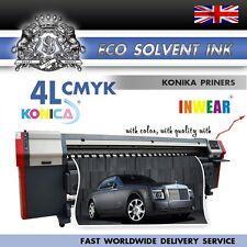 NUOVO ECO SOLVENTE inchiostro Konica KM512/42pl 4 LITRI CMYK migliore qualità, spedizione rapida