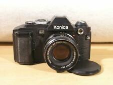 Konica FS-1 Motorized 35mm SLR Camera w/ 50mm F1.7 Hexanon AR Lens