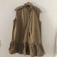 Miu Miu women's Brown Smock Shirt Dress Size 44