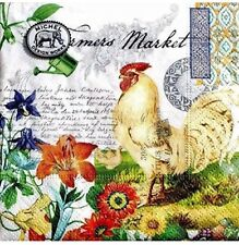 mICHEL Design Works Set of 20 Paper Luncheon Napkins - Rooster Farmers Market