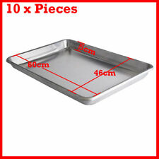 10 PCS ALUMINIUM OVEN BAKING PAN TRAY BAKERS FOR GASTRONORM TROLLEY 60x40x5cm