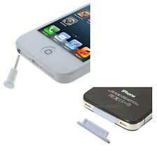 TAPPI ANTI POLVERE stopper per IPHONE 4 3 IPOD IPAD bianco presa usb cuffie plug