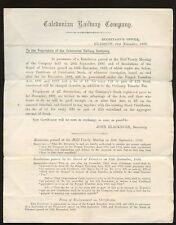 SCOTLAND 1892 CALEDONIAN RAILWAY GLASGOW PAID HANDSTAMP