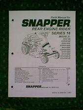 SNAPPER SERIES 16 REAR ENGINE RIDER RIDING MOWER PARTS MANUAL