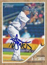 Texas Rangers MIGUEL DE LOS SANTOS Signed Heritage Card