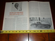 DONALD AUSTIN HEALEY - The Man & His Cars  - ORIGINAL 1978 ARTICLE