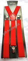Braces  Stretchable Plain Colors Unisex Elastic Y-BACK Suspenders Clip On