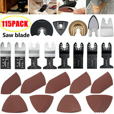 115pcs Oscillating Multi Tool Saw Blades Kit For Fein Bosch Ridgid Makita Ridgid