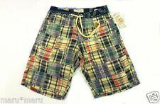 $80 Mens RALPH LAUREN Denim & Supply Quilt Madras Board Shorts SMALL blue yellow