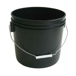Argee Pail Bucket Tub Container Garden Heavy Duty Plastic Black 3.5 Gal 10 Pack