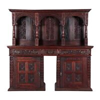 Antique Server, Sideboard, Continental Carved Oak, 19th C., 1800s, Amazing!!
