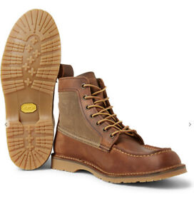 Sz 12 Red Wing WACOUTA 6 Inch Moc Toe Leather Chestnut Brown Mens Boots NEW